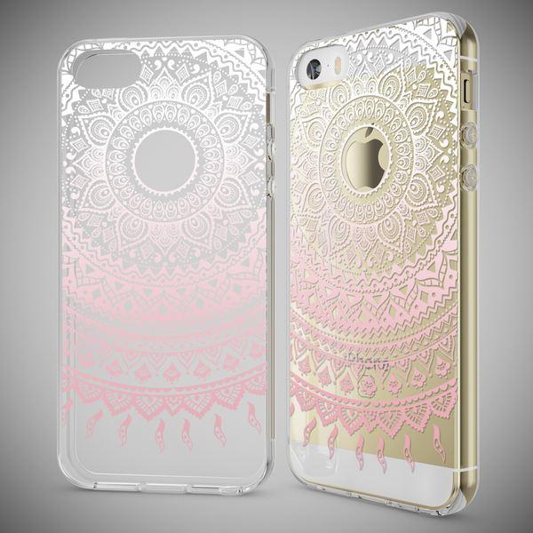 NALIA Handyhülle kompatibel mit iPhone SE 5 5S, Ultra-Slim Silikon Motiv Case Schutzhülle Dünn Durchsichtig, Etui Handy-Tasche Schale Back-Cover Transparent Smart-Phone – Bild 23