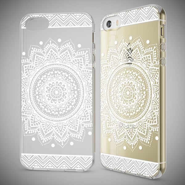 NALIA Handyhülle kompatibel mit iPhone SE 5 5S, Ultra-Slim Silikon Motiv Case Schutzhülle Dünn Durchsichtig, Etui Handy-Tasche Schale Back-Cover Transparent Smart-Phone – Bild 25
