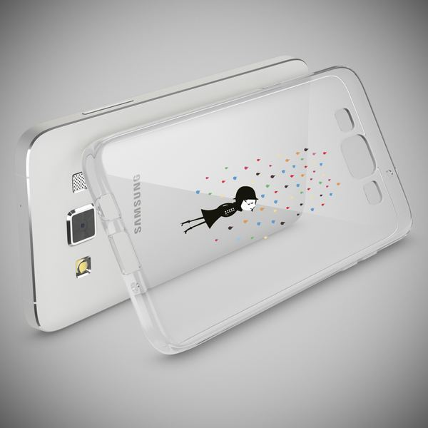 NALIA Handyhülle kompatibel mit Samsung Galaxy A5 2015, Slim Silikon Motiv Case Hülle Cover Crystal Dünn Durchsichtig Etui Handy-Tasche Backcover Transparent Phone Bumper – Bild 6