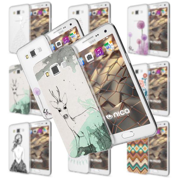 NALIA Handyhülle kompatibel mit Samsung Galaxy A5 2015, Slim Silikon Motiv Case Hülle Cover Crystal Dünn Durchsichtig Etui Handy-Tasche Backcover Transparent Phone Bumper – Bild 1