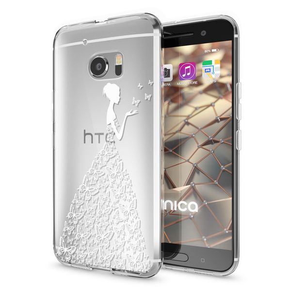 NALIA Handyhülle kompatibel mit HTC 10, Slim Silikon Motiv Case Cover Crystal Schutzhülle Dünn Durchsichtig, Etui Handy-Tasche Backcover Transparent Smartphone Bumper – Bild 2
