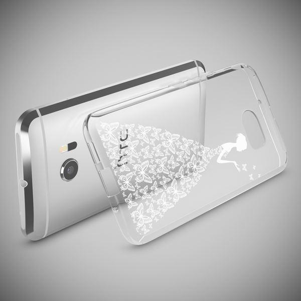 NALIA Handyhülle für HTC 10, Slim Silikon Motiv Case Cover Crystal Schutzhülle Dünn Durchsichtig, Etui Handy-Tasche Backcover Transparent Bumper für HTC10 Smartphone – Bild 3