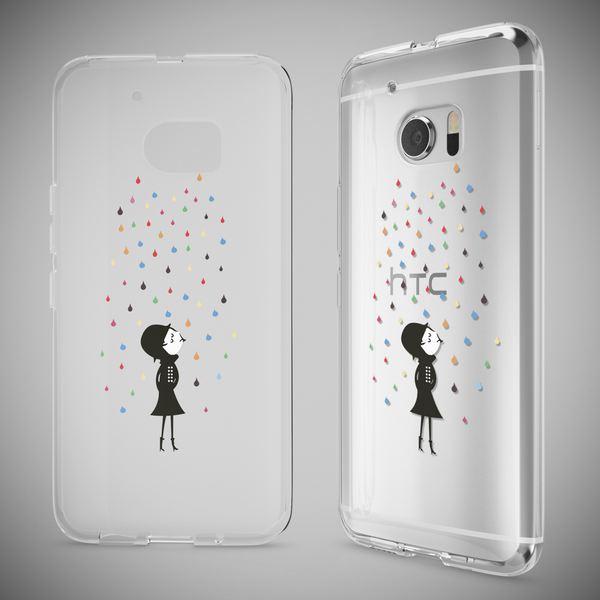 NALIA Handyhülle für HTC 10, Slim Silikon Motiv Case Cover Crystal Schutzhülle Dünn Durchsichtig, Etui Handy-Tasche Backcover Transparent Bumper für HTC10 Smartphone – Bild 7
