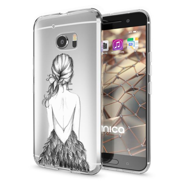NALIA Handyhülle kompatibel mit HTC 10, Slim Silikon Motiv Case Cover Crystal Schutzhülle Dünn Durchsichtig, Etui Handy-Tasche Backcover Transparent Smartphone Bumper – Bild 14