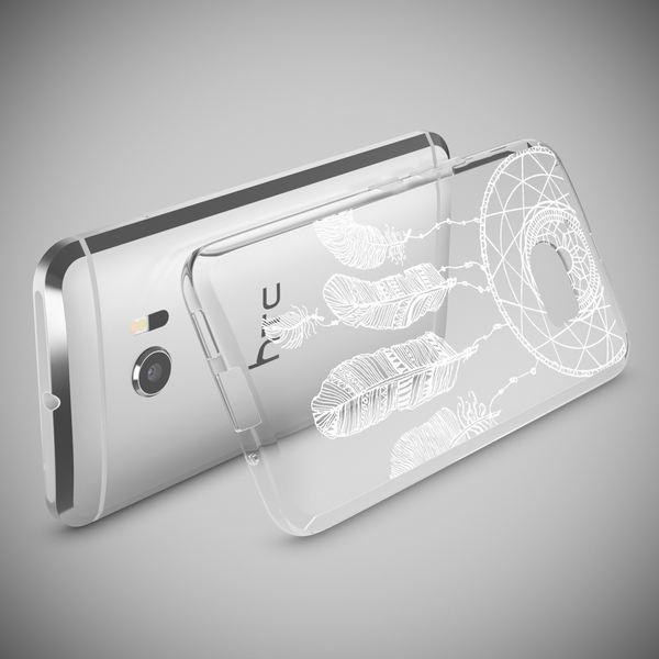 NALIA Handyhülle für HTC 10, Slim Silikon Motiv Case Cover Crystal Schutzhülle Dünn Durchsichtig, Etui Handy-Tasche Backcover Transparent Bumper für HTC10 Smartphone – Bild 18
