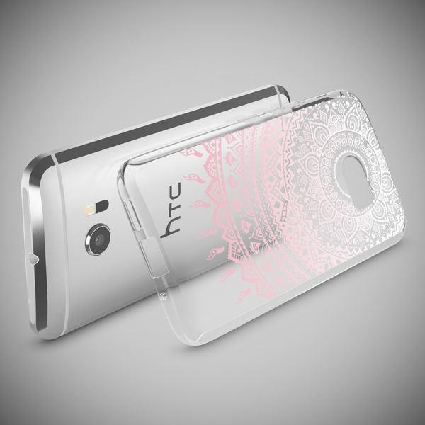 NALIA Handyhülle kompatibel mit HTC 10, Slim Silikon Motiv Case Cover Crystal Schutzhülle Dünn Durchsichtig, Etui Handy-Tasche Backcover Transparent Smartphone Bumper – Bild 24