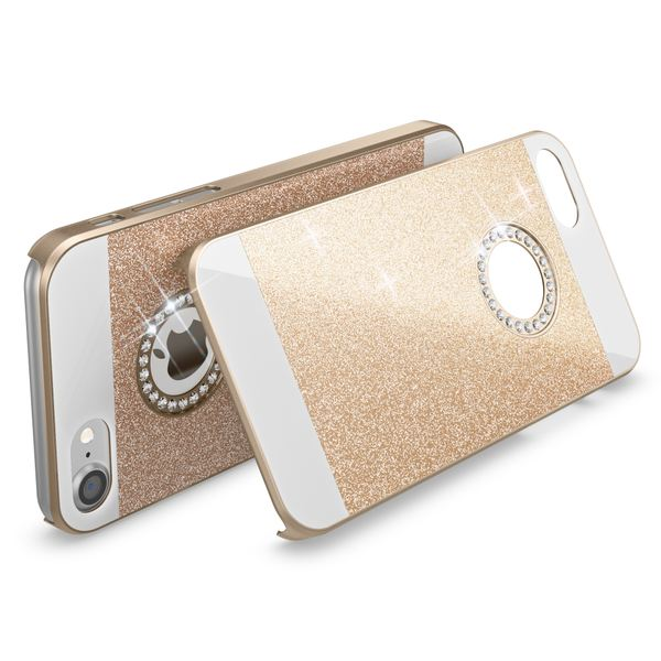 NALIA Handyhülle kompatibel mit iPhone 7, Glitzer Slim Hard-Case Back-Cover Schutz-Hülle, Handy-Tasche im Glitter Sparkle Design, Dünnes Bling Strass Etui Smart-Phone Skin Bumper – Bild 11