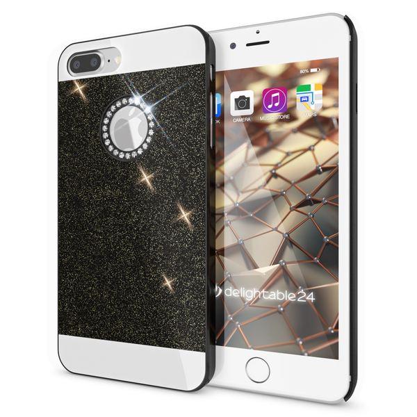 NALIA Handyhülle für iPhone 8 Plus / 7 Plus, Glitzer Slim Hard-Case Back-Cover Schutz-Hülle, Glitter Handy-Tasche, Dünnes Bling Strass Etui Skin für Apple iPhone 7 Plus / 8 Plus – Bild 2