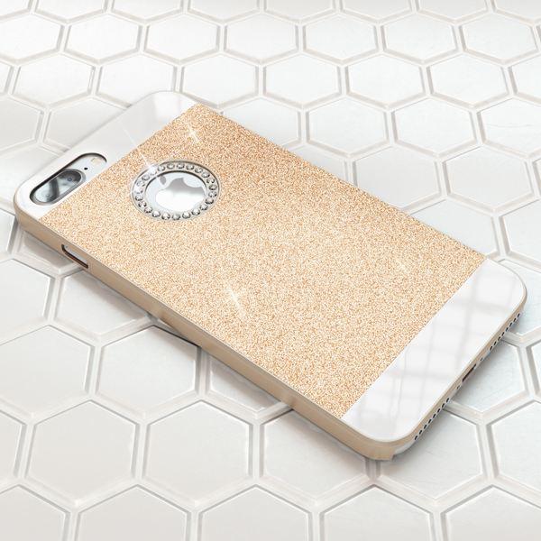 NALIA Handyhülle für iPhone 8 Plus / 7 Plus, Glitzer Slim Hard-Case Back-Cover Schutz-Hülle, Glitter Handy-Tasche, Dünnes Bling Strass Etui Skin für Apple iPhone 7 Plus / 8 Plus – Bild 16