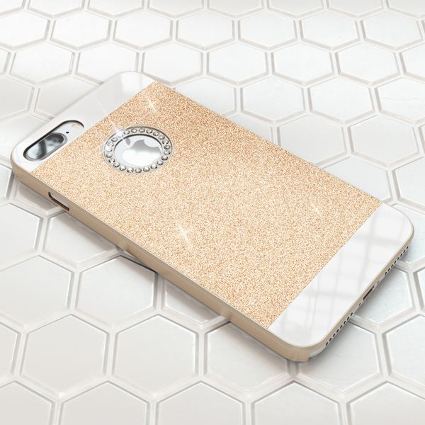 NALIA Handyhülle kompatibel mit iPhone 8 Plus / 7 Plus, Glitzer Slim Hard-Case Back-Cover Schutz-Hülle, Glitter Handy-Tasche Telefon-Schale Dünnes Bling Strass Etui Smart-Phone Skin – Bild 16