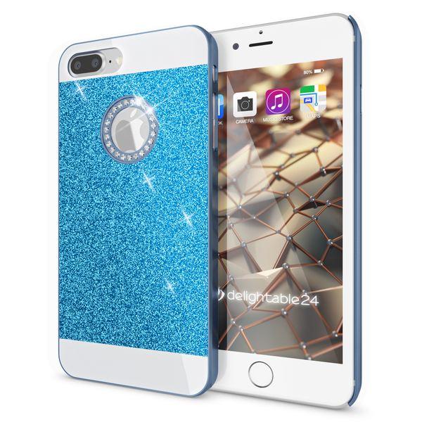 NALIA Handyhülle für iPhone 8 Plus / 7 Plus, Glitzer Slim Hard-Case Back-Cover Schutz-Hülle, Glitter Handy-Tasche, Dünnes Bling Strass Etui Skin für Apple iPhone 7 Plus / 8 Plus – Bild 17