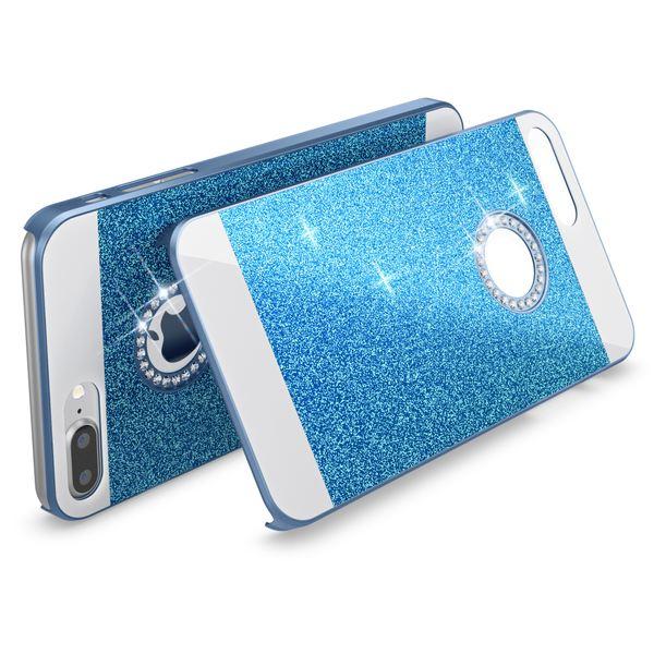 NALIA Handyhülle für iPhone 8 Plus / 7 Plus, Glitzer Slim Hard-Case Back-Cover Schutz-Hülle, Glitter Handy-Tasche, Dünnes Bling Strass Etui Skin für Apple iPhone 7 Plus / 8 Plus – Bild 18