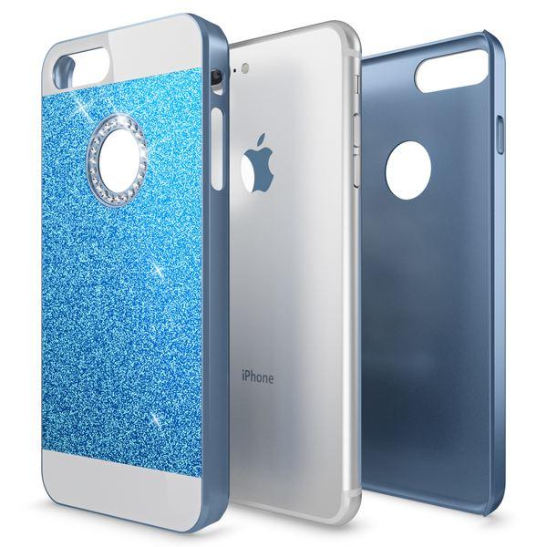 NALIA Handyhülle für iPhone 8 Plus / 7 Plus, Glitzer Slim Hard-Case Back-Cover Schutz-Hülle, Glitter Handy-Tasche, Dünnes Bling Strass Etui Skin für Apple iPhone 7 Plus / 8 Plus – Bild 19