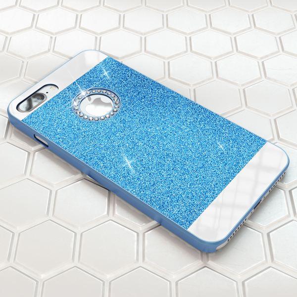 NALIA Handyhülle für iPhone 8 Plus / 7 Plus, Glitzer Slim Hard-Case Back-Cover Schutz-Hülle, Glitter Handy-Tasche, Dünnes Bling Strass Etui Skin für Apple iPhone 7 Plus / 8 Plus – Bild 21