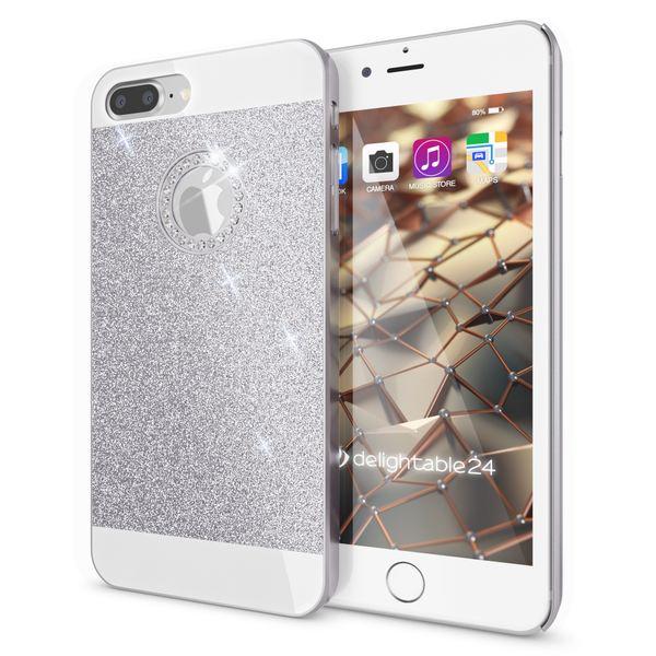 NALIA Handyhülle für iPhone 8 Plus / 7 Plus, Glitzer Slim Hard-Case Back-Cover Schutz-Hülle, Glitter Handy-Tasche, Dünnes Bling Strass Etui Skin für Apple iPhone 7 Plus / 8 Plus – Bild 22