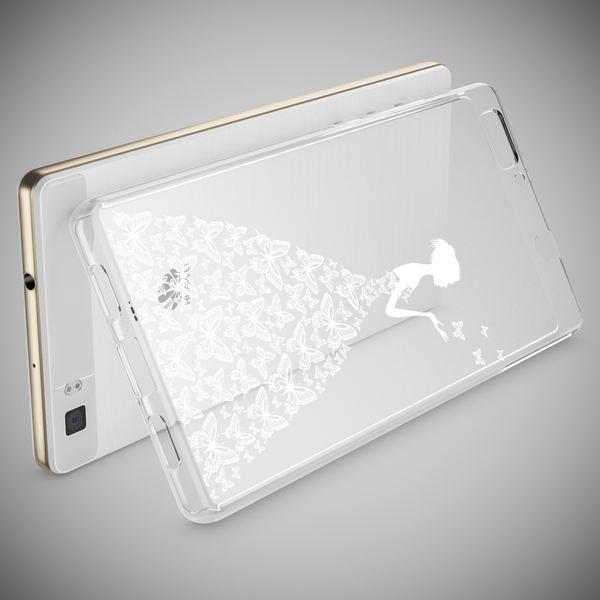 NALIA Handyhülle für Huawei P8 Lite, Slim Silikon Motiv Case Cover Hülle Crystal Schutzhülle Dünn Durchsichtig, Etui Handy-Tasche Backcover Transparent Bumper für P 8 Lite – Bild 3