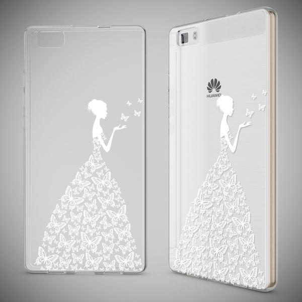 NALIA Handyhülle für Huawei P8 Lite, Slim Silikon Motiv Case Cover Hülle Crystal Schutzhülle Dünn Durchsichtig, Etui Handy-Tasche Backcover Transparent Bumper für P 8 Lite – Bild 4
