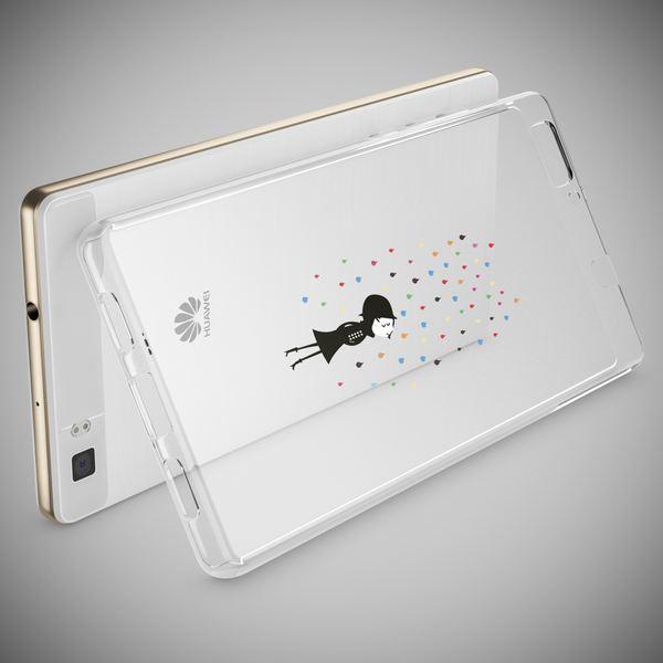 NALIA Handyhülle für Huawei P8 Lite, Slim Silikon Motiv Case Cover Hülle Crystal Schutzhülle Dünn Durchsichtig, Etui Handy-Tasche Backcover Transparent Bumper für P 8 Lite – Bild 6