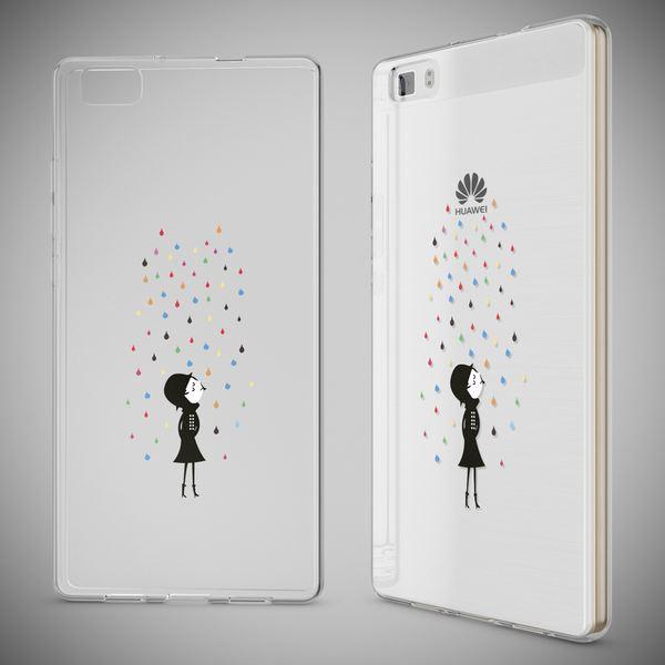 NALIA Handyhülle für Huawei P8 Lite, Slim Silikon Motiv Case Cover Hülle Crystal Schutzhülle Dünn Durchsichtig, Etui Handy-Tasche Backcover Transparent Bumper für P 8 Lite – Bild 7