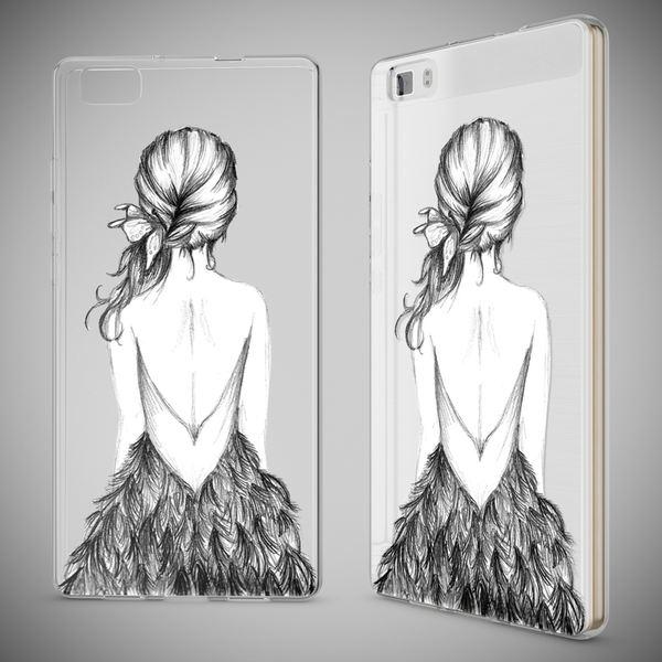 NALIA Handyhülle für Huawei P8 Lite, Slim Silikon Motiv Case Cover Hülle Crystal Schutzhülle Dünn Durchsichtig, Etui Handy-Tasche Backcover Transparent Bumper für P 8 Lite – Bild 16