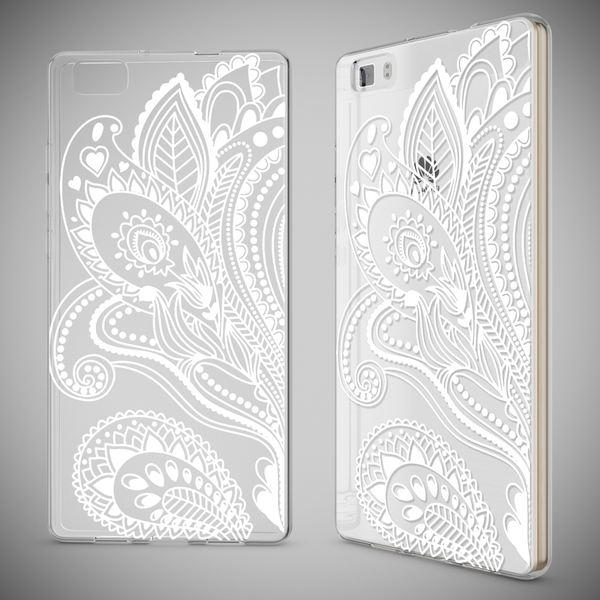 NALIA Handyhülle für Huawei P8 Lite, Slim Silikon Motiv Case Cover Hülle Crystal Schutzhülle Dünn Durchsichtig, Etui Handy-Tasche Backcover Transparent Bumper für P 8 Lite – Bild 19