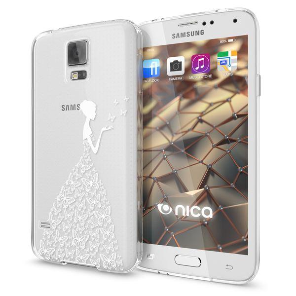 NALIA Handyhülle kompatibel mit Samsung Galaxy S5 S5 Neo, Slim Silikon Motiv Case Hülle Cover Crystal Dünn Durchsichtig, Etui Handy-Tasche Back-Cover Transparent Bumper – Bild 2