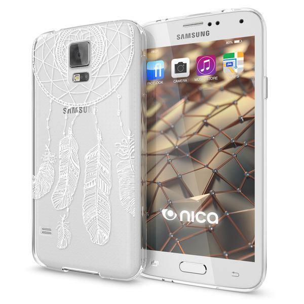 NALIA Handyhülle kompatibel mit Samsung Galaxy S5 S5 Neo, Slim Silikon Motiv Case Hülle Cover Crystal Dünn Durchsichtig, Etui Handy-Tasche Back-Cover Transparent Bumper – Bild 17