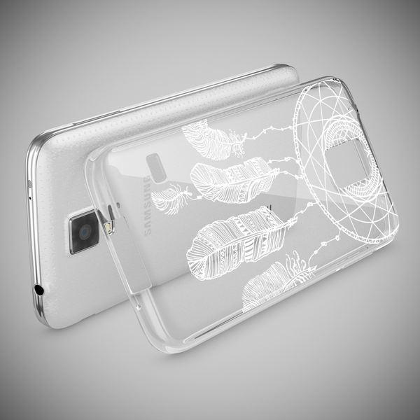 NALIA Handyhülle kompatibel mit Samsung Galaxy S5 S5 Neo, Slim Silikon Motiv Case Hülle Cover Crystal Dünn Durchsichtig, Etui Handy-Tasche Back-Cover Transparent Bumper – Bild 18