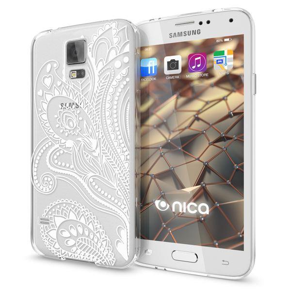 NALIA Handyhülle kompatibel mit Samsung Galaxy S5 S5 Neo, Slim Silikon Motiv Case Hülle Cover Crystal Dünn Durchsichtig, Etui Handy-Tasche Back-Cover Transparent Bumper – Bild 20