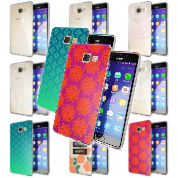 NALIA Handyhülle kompatibel mit Samsung Galaxy A5 2016, Slim Silikon Motiv Case Hülle Cover Crystal Dünn Durchsichtig Etui Handy-Tasche Backcover Transparent Phone Bumper – Bild 1