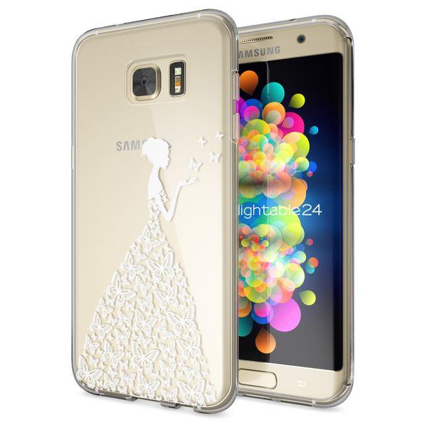 NALIA Handyhülle kompatibel mit Samsung Galaxy S7 Edge, Slim Silikon Motiv Case Hülle Cover Crystal Dünn Durchsichtig, Etui Handy-Tasche Back-Cover Transparent Bumper – Bild 2