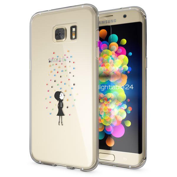 NALIA Handyhülle kompatibel mit Samsung Galaxy S7 Edge, Slim Silikon Motiv Case Hülle Cover Crystal Dünn Durchsichtig, Etui Handy-Tasche Back-Cover Transparent Bumper – Bild 5