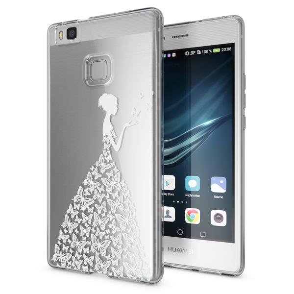 NALIA Handyhülle kompatibel mit Huawei P9 Lite, Slim Silikon Motiv Case Cover Hülle Crystal Schutzhülle Dünn Durchsichtig, Etui Handy-Tasche Back-Cover Smart-Phone Bumper – Bild 2