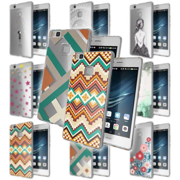 NALIA Handyhülle kompatibel mit Huawei P9 Lite, Slim Silikon Motiv Case Cover Hülle Crystal Schutzhülle Dünn Durchsichtig, Etui Handy-Tasche Back-Cover Smart-Phone Bumper – Bild 1