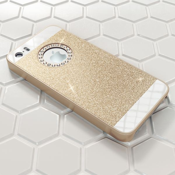 NALIA Handyhülle kompatibel mit iPhone SE 5 5S, Glitzer Slim Hard-Case Back-Cover Schutzhülle, Handy-Tasche im Glitter Design, Dünnes Bling Strass Etui Schale Smart-Phone Skin – Bild 13
