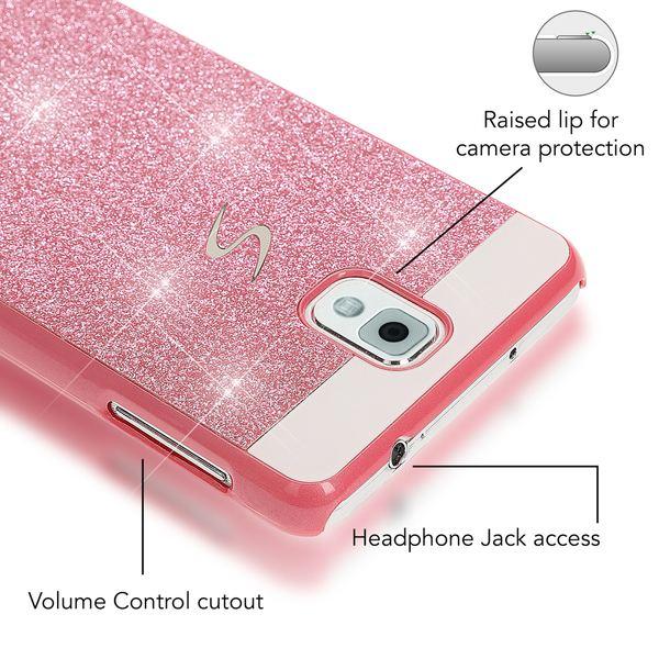 NALIA Handyhülle kompatibel mit Samsung Galaxy Note 3, Glitzer Slim Hard-Case Back-Cover Schutzhülle, Handy-Tasche Schale im Glitter Design, Dünnes Bling Strass Etui Smart-Phone Skin – Bild 20