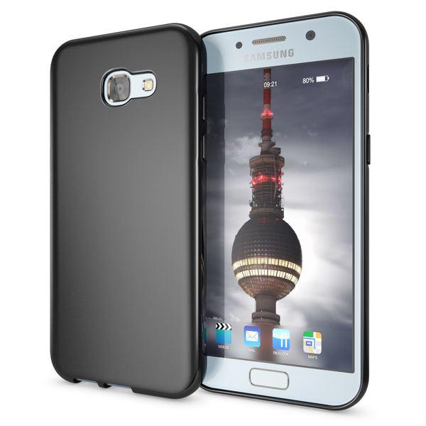 NALIA Handyhülle kompatibel mit Samsung Galaxy A3 2017, Ultra-Slim Silikon Case, Dünne Crystal Schutz-Hülle, Etui Handy-Tasche Back-Cover Bumper, TPU Smart-Phone Gummihülle – Bild 1