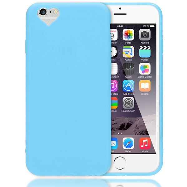 NALIA Herz Handyhülle kompatibel mit iPhone 6 6S, Silikon Case Schutz-Hülle Gummihülle, Soft Slim Cover Etui Dünne Handy-Tasche, Ultra-Slim Smart-Phone Back-Cover Skin Bumper – Bild 2