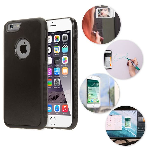 NALIA Handyhülle kompatibel mit iPhone 6 6S, Anti-Gravity Case, Dünne Zero-Gravity selbstklebende Silikon Selfie Schutz-Hülle, Ultra Slim Back-Cover Bumper Smart-Phone Etui – Bild 2