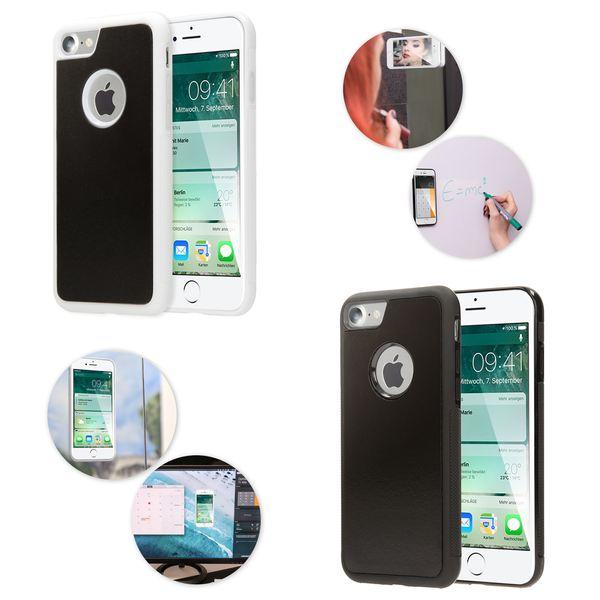 NALIA Handyhülle kompatibel mit iPhone 7, Anti-Gravity Case, Dünne Handyhülle Zero-Gravity selbstklebende Silikon Selfie Schutz-Hülle, Ultra Slim Back-Cover Bumper Smart-Phone Etui – Bild 1