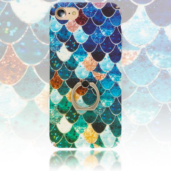 NALIA Ring Handyhülle kompatibel mit iPhone 8 / 7, Motiv Schutz-Hülle mit 360-Grad Fingerhalterung, Dünnes Hard-Case mit Ständer Bumper Slim Back-Cover Smart-Phone Etui – Bild 24