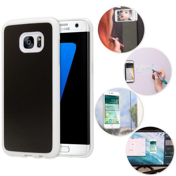 NALIA Handyhülle kompatibel mit Samsung Galaxy S7, Edge Anti-Gravity Case, Dünne selbstklebende Silikon Selfie Schutz-Hülle, Slim Back-Cover Bumper Smart-Phone Etui – Bild 9