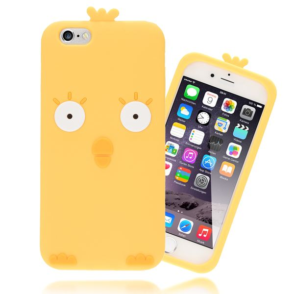 NALIA Handyhülle für iPhone 6 6S 3D, Dünnes Silikon Cartoon-Case Cover Stoßfeste Anti-Rutsch Schutz-Hülle, Backcover Handy-Tasche Bumper Phone Etui für Apple iPhone-6S 6 – Bild 2