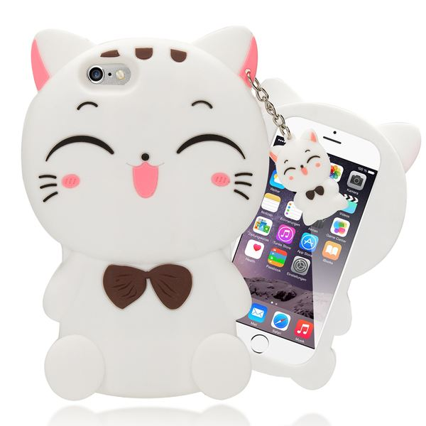 NALIA Handyhülle für iPhone 6 6S 3D, Dünnes Silikon Cartoon-Case Cover Stoßfeste Anti-Rutsch Schutz-Hülle, Backcover Handy-Tasche Bumper Phone Etui für Apple iPhone-6S 6 – Bild 18