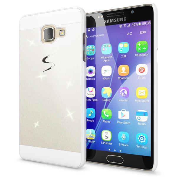 NALIA Handyhülle kompatibel mit Samsung Galaxy A5 2017, Glitzer Slim Hard-Case Back-Cover Schutz-Hülle, Handy-Tasche im Glitter Sparkle Design Dünnes Bling Strass Etui Smart-Phone Skin – Bild 2