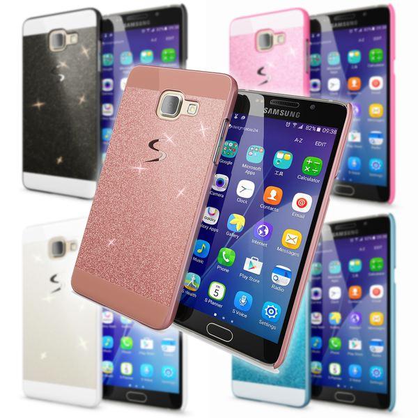 NALIA Handyhülle kompatibel mit Samsung Galaxy A5 2017, Glitzer Slim Hard-Case Back-Cover Schutz-Hülle, Handy-Tasche im Glitter Sparkle Design Dünnes Bling Strass Etui Smart-Phone Skin – Bild 1
