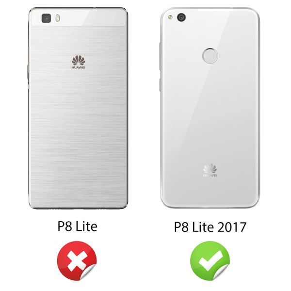 NALIA Handyhülle für Huawei P8 Lite 2017, Ultra-Slim Silikon Case Cover, Dünne Crystal Schutz-Hülle, Etui Handy-Tasche Back-Cover Bumper, TPU Gummihülle für P8-Lite 17 Smart-Phone – Bild 3