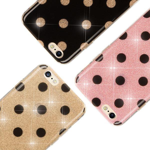 NALIA Punkte-Handyhülle kompatibel mit iPhone 6 6S, Glitzer Ultra-Slim Silikon-Case Back-Cover Smart-Phone Schutz-Hülle, Glitter Sparkle Handy-Tasche Bumper Dünnes Bling Strass Etui  – Bild 1