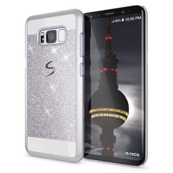 NALIA Handyhülle kompatibel mit Samsung Galaxy S8 Plus, Glitzer Slim Hard-Case Back-Cover Schutz-Hülle, Handy-Tasche im Glitter Sparkle Design, Dünnes Bling Etui Smart-Phone Skin – Bild 12