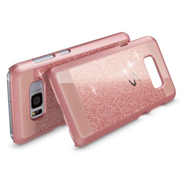 NALIA Handyhülle kompatibel mit Samsung Galaxy S8 Plus, Glitzer Slim Hard-Case Back-Cover Schutz-Hülle, Handy-Tasche im Glitter Sparkle Design, Dünnes Bling Etui Smart-Phone Skin – Bild 6